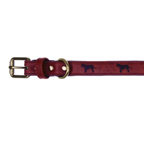 Terrier Design Dog Collar - Red