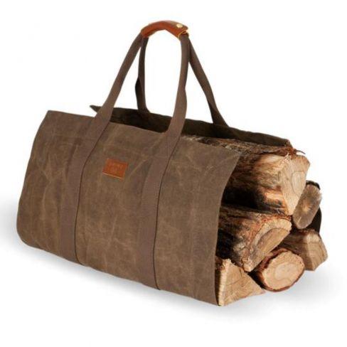 Waxed Canvas Log Bag - Tabacco