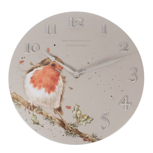 Woodland Robin Clock