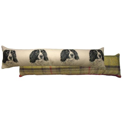Draught Excluder Springer Black and White