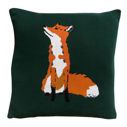 Fox Knitted Cushion