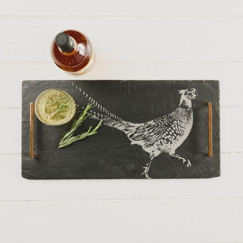 Pheasant Slate Tray
