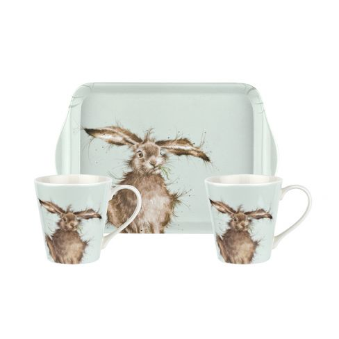 Wrendale Mug and Tray Set - Hare