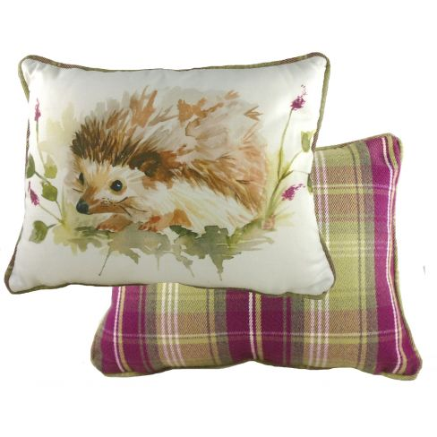 Country Hedgehog Piped Cushion