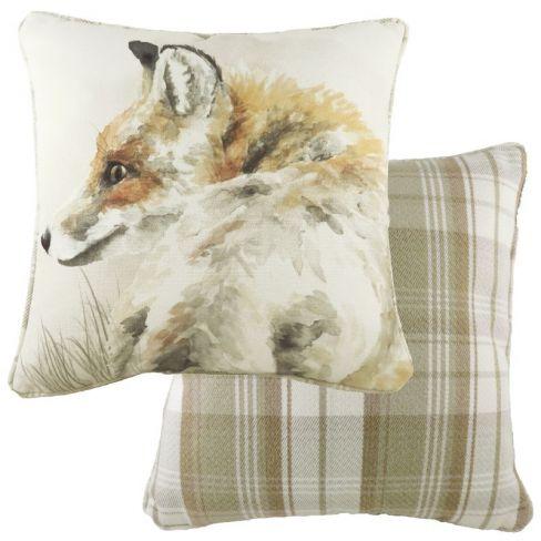 Woodland Animals Piped Cushion - Fox