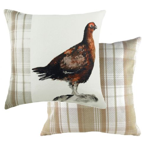 Handpainted Cushions - Grouse