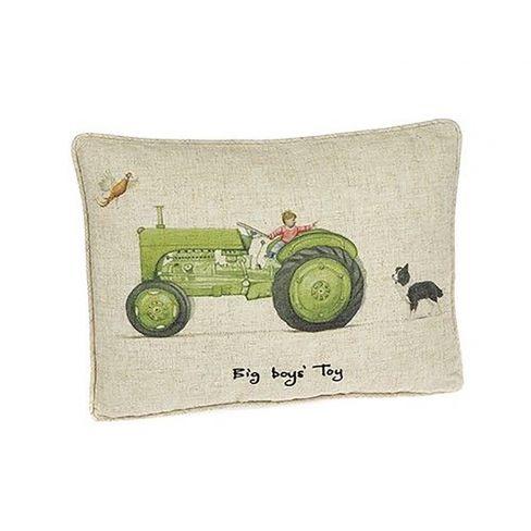 Big Boys Toys Tractor Linen Cushion