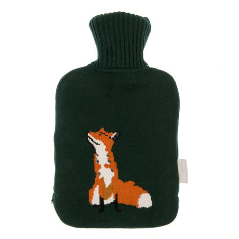 Knitted Hot Water Bottle - Fox