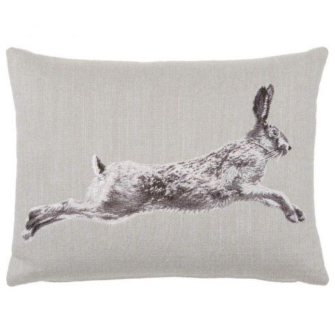 Hare Linen Cushion - 33 x 46