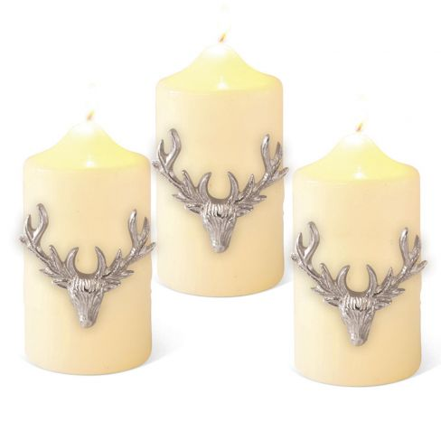 Stag Candle Pins Set of 3 - Large