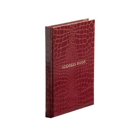 Address Book - Portrait - Burgundy