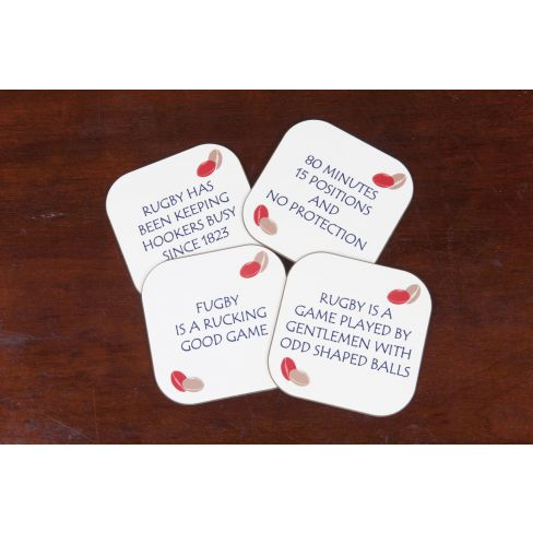 Rugby Coasters Set of 4