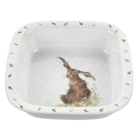 Wrendale Wild Hare Serving Dish Square