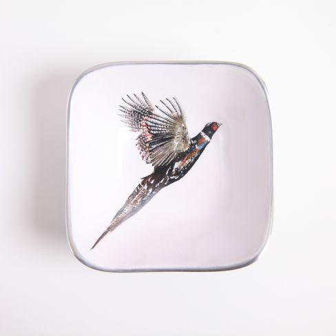 Pheasant Square Dish