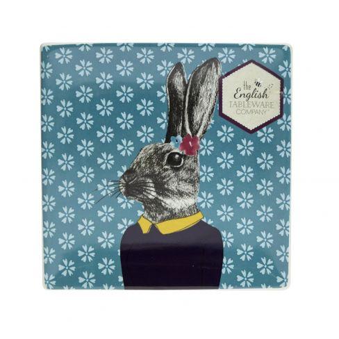 """After Dark"" Woodland - Ceramic Dish - Rabbit"