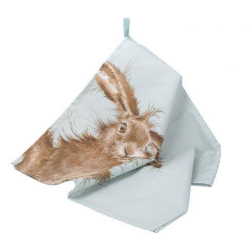Wrendale Wild Hare Tea Towel