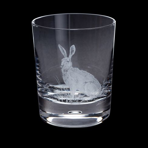 Dartington Engraved Tumbler - Hare