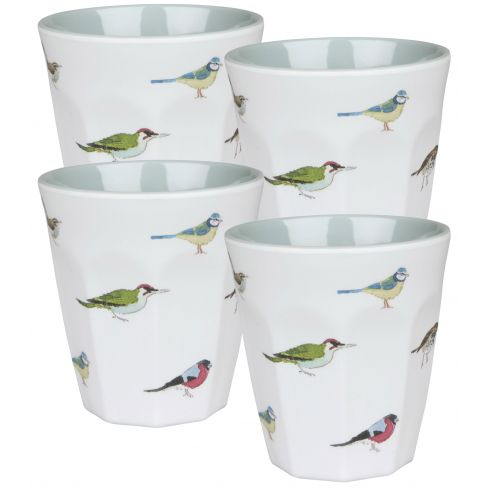4 Garden Bird Beakers