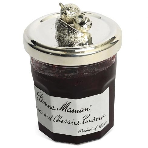 Silver Plated Fruit Jam Jar Lids Mixed Fruit
