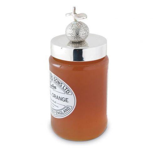 Silver Plated Fruit Jam Jar Lids - Orange