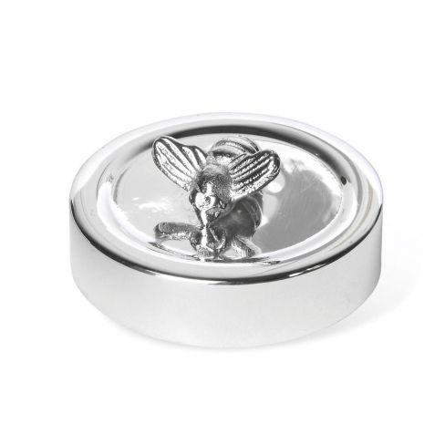 Silver Plated Honey Bee Jar Lid