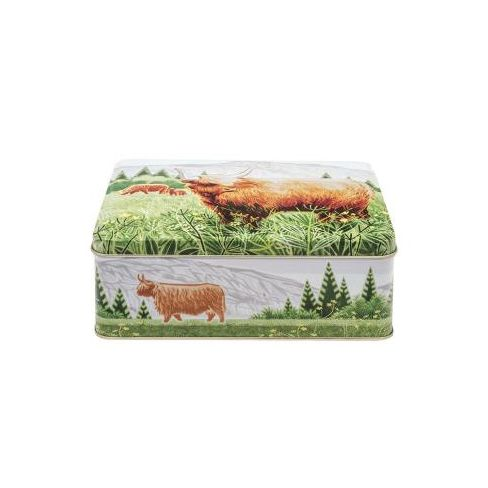 Highland Cow Deep Biscuit Tin