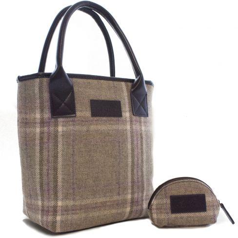 Tweed Bucket Tote Bag