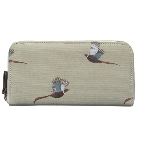 Ladies Oilcloth Wallet Pheasants