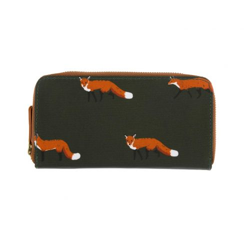 Ladies Oilcloth Wallet Foxes