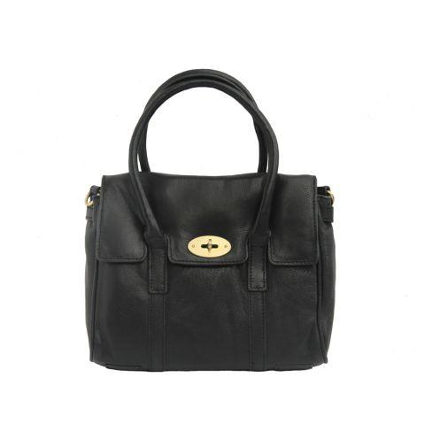 Large Leather Classic Handbag Black