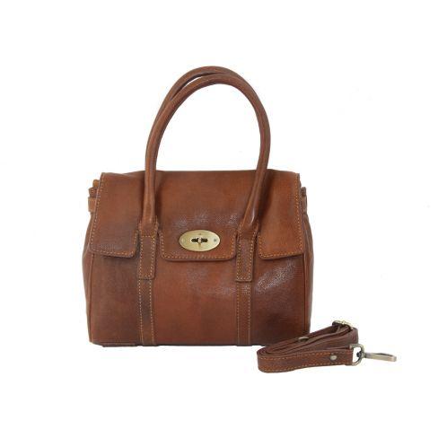 Medium Leather Classic Handbag Tan