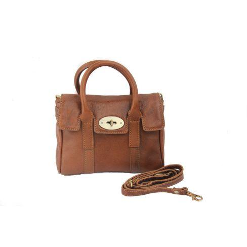 Small Leather Classic Handbag Tan
