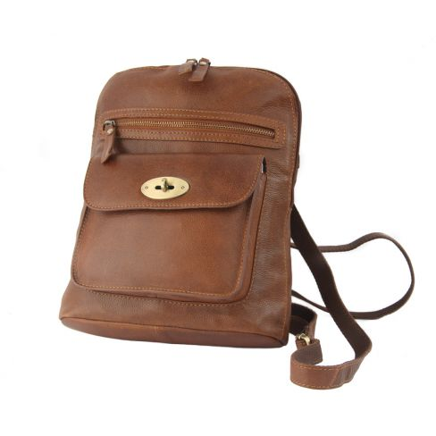 Leather Backpack Tan