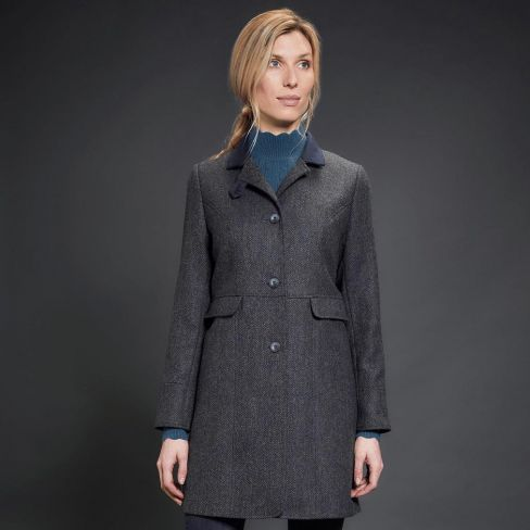 Jack Murphy Pamela Fitted Coat - Navy Teal Dreamer