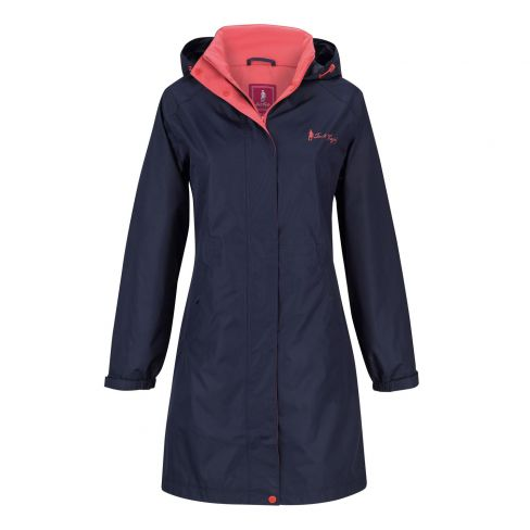 Jack Murphy Lisa Mid Length Rain Jacket - Heritage Navy