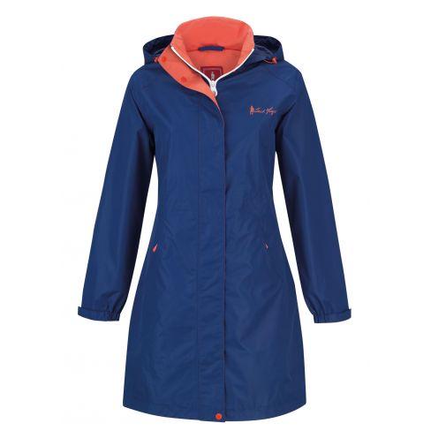 Jack Murphy Lisa Mid Length Rain Jacket - Sea Blue