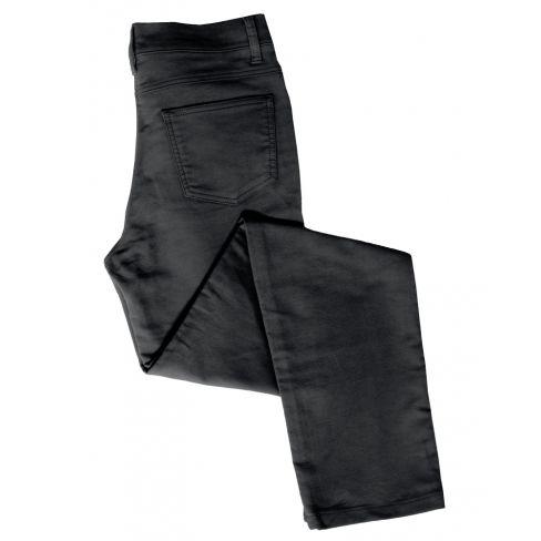 Ladies Straight Leg Stretch Moleskin Jeans Black