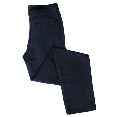Ladies Straight Leg Stretch Moleskin Jeans Navy