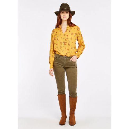 Dubarry Honeysuckle Stretch Pin Cord Jeans - Dusky Green
