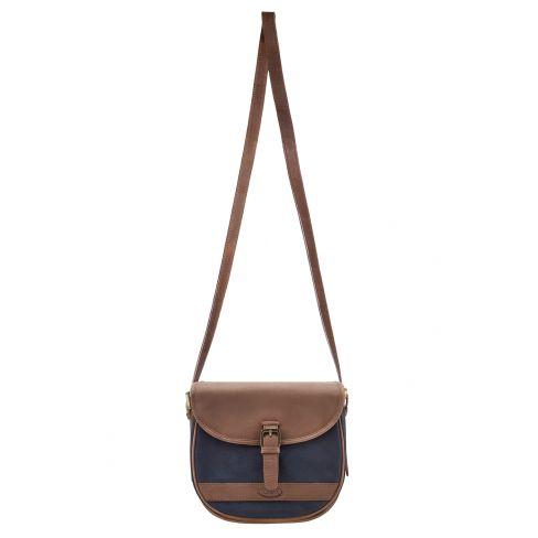 Dubarry Clara Saddle Bag Navy/Brown