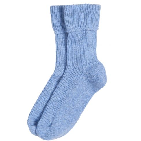 Ladies Cashmere Socks Blue