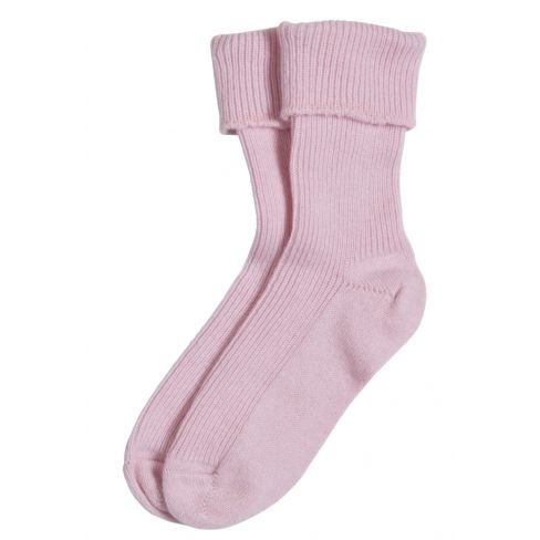 Ladies Cashmere Socks Pink