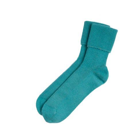Ladies Cashmere Socks - Teal