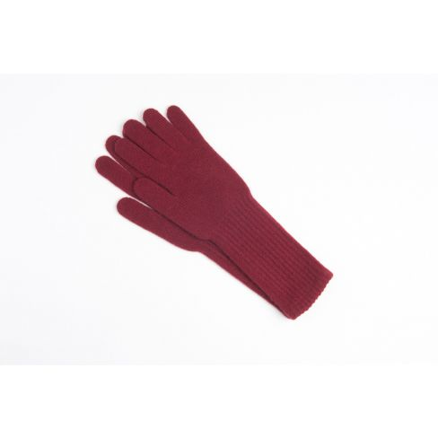 Long Cashmere Gloves - Burgundy