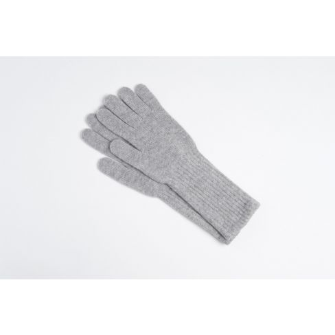Long Cashmere Gloves - Light Grey