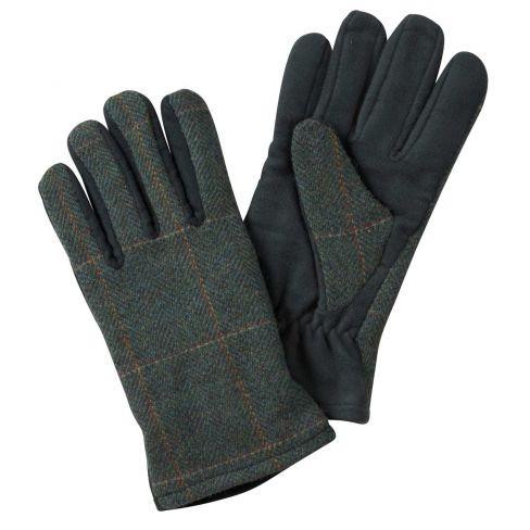 Ladies Sherborne Lambswool Tweed/Moleskin Gloves