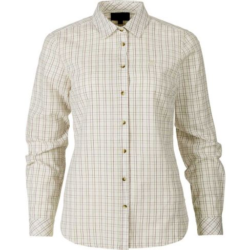 Seeland Ladies Claire Cotton Shirt - Tofu Check