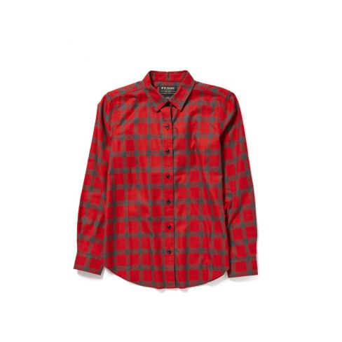 Filson Ladies Lightweight Alaskan Guide Shirt - Red/Charcoal Plaid