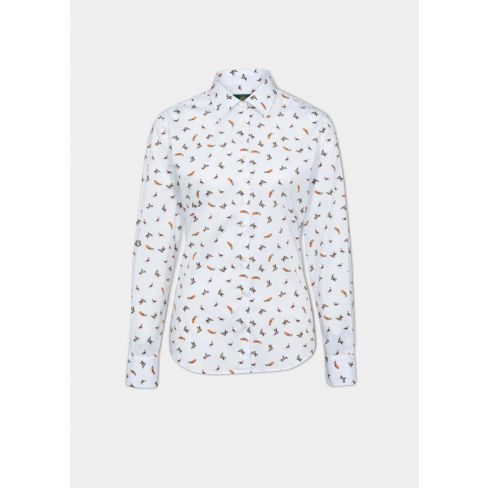Alan Paine Lawen Ladies Cotton Shirt - Dog & Duck