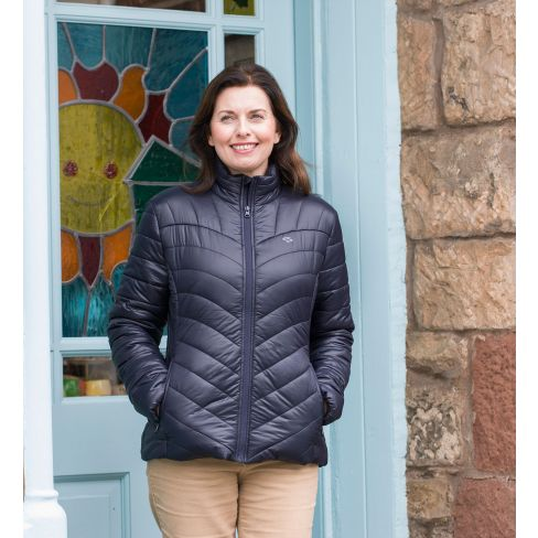 Ladies Lightweight Quilted Jacket Navy